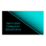 Speed Texture Business Card, Turquoise