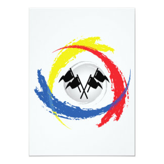 Speed Tricolor Emblem Card