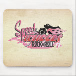 Speed & Wheels and Rock & Roll Mouse Pad