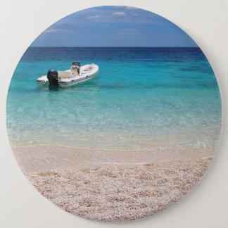 Speedboat in the blue sea button
