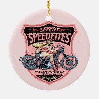 Speedettes Ceramic Ornament