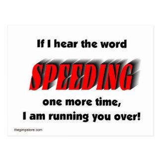 speeding postcard