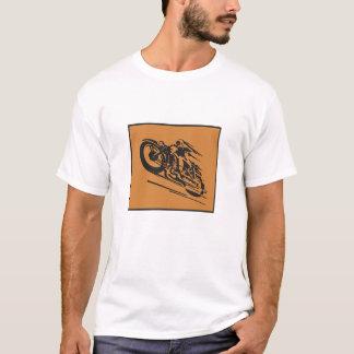 Speeding retro motorcycle tee shirt