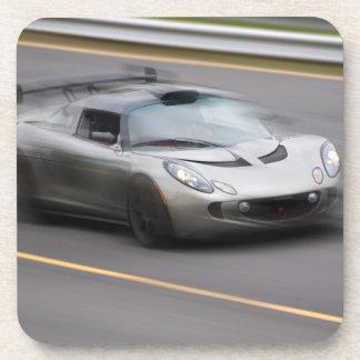 Speeding Sports Car Beverage Coaster