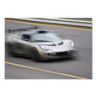 Speeding Sports Car Card