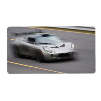 Speeding Sports Car Custom Shipping Labels