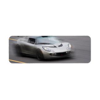 Speeding Sports Car Label