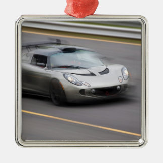 Speeding Sports Car Metal Ornament