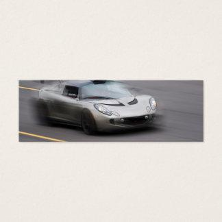 Speeding Sports Car Mini Business Card