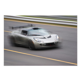 Speeding Sports Car Photo Print