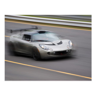 Speeding Sports Car Postcard