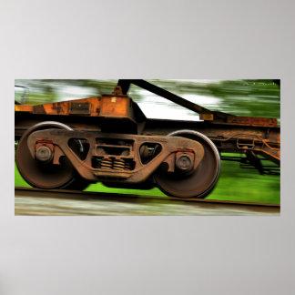 Speeding Steel Wheels Print