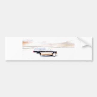 Speeding SUV Truck Car Bumper Sticker
