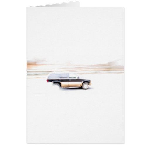 Speeding SUV Truck Greeting Card