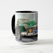 SPEEDING VINTAGE CAR MUG