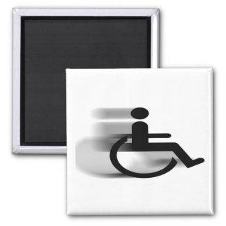 Speeding Wheelchair Magnet