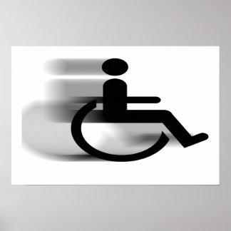 Speeding Wheelchair Poster
