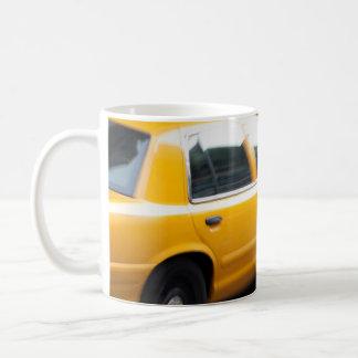 Speeding Yellow NY City Taxi Cab with Motion Blur Coffee Mug