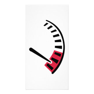 Speedometer car racing personalized photo card