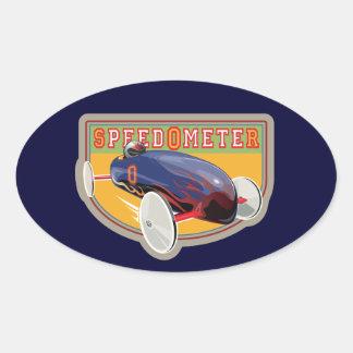 Speedometer Coaster Car Oval Sticker
