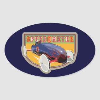 Speedometer Coaster Car Oval Stickers