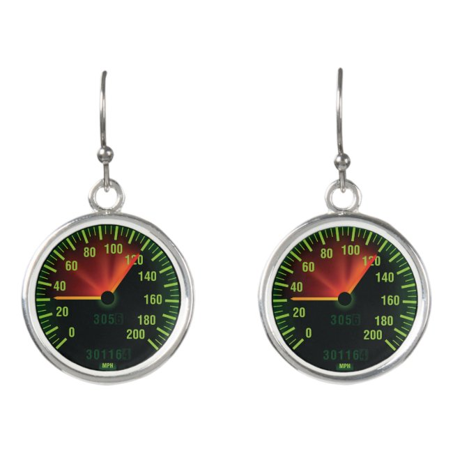 Speedometer Design Drop Earrings