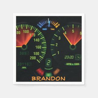 Speedometer Design Paper Napkins