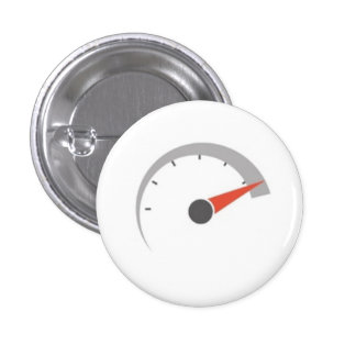 Speedometer face pinback button