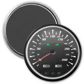 Speedometer for Nerd Geeks 3 Inch Round Magnet