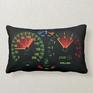 Speedometer Gauge Design Throw Pillow