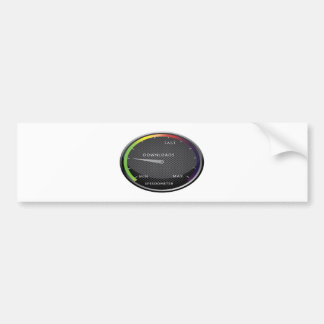 Speedometer graphic design car bumper sticker