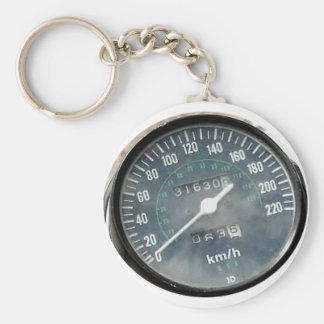 Speedometer on key chain