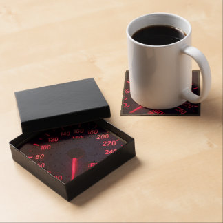 Speedometer Themed, A Picture Of A Speedometer Glo Drink Coaster