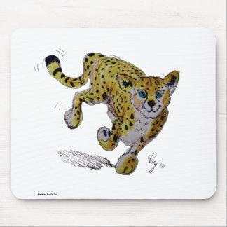 Speedster Cheetah cub running Mousepad