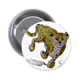 Speedster Cheetah cub running Pinback Button