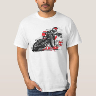 Speedway Flat Track Motorcycle Racer T-Shirt