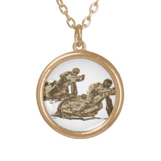 Speedway Motorcycle Racers Necklace
