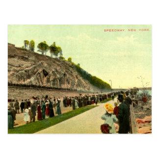 Speedway, New York City, 1910 Vintage Postcard