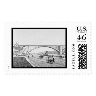 Speedway Washington Bridge Harlem River 1905 Postage Stamps