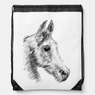 speedy Arab horse drawstring backpack