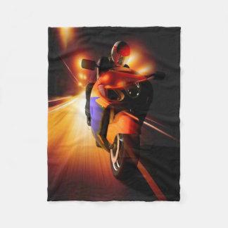Speedy Biker Fleece Blanket