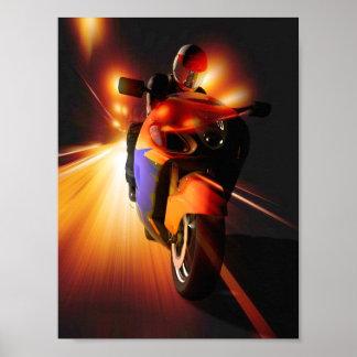 Speedy Biker Poster