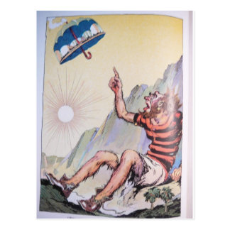 Speedy - Character Pointing at Umbrella Postcard