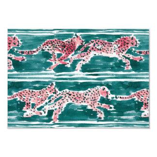 SPEEDY CHEETAHS Safari Watercolor Note Flat Card