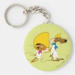 Speedy Gonzales and Friend Basic Round Button Keychain