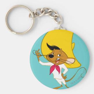 Speedy Gonzales Mustache Basic Round Button Keychain
