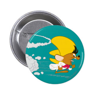 Speedy Gonzales Running in Color Pinback Button