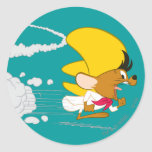 Speedy Gonzales Running in Color Classic Round Sticker