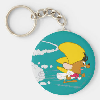 Speedy Gonzales Running in Color Key Chains