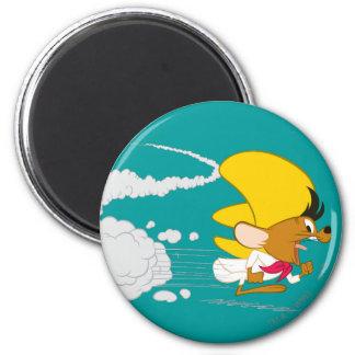 Speedy Gonzales Running in Color 2 Inch Round Magnet